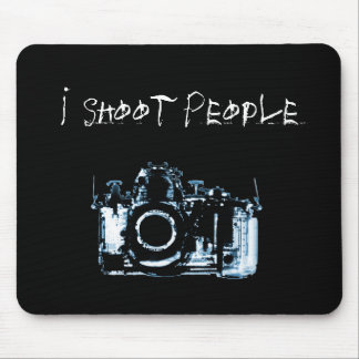 X-RAY VISION CAMERA BLACK BLUE - I Shoot People Mousepads