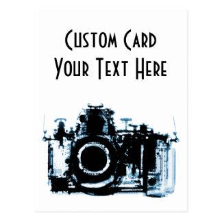 X-RAY VISION CAMERA BLACK BLUE POSTCARD