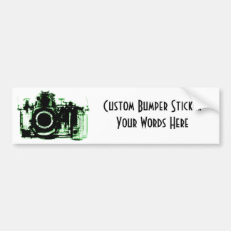 X-RAY VISION CAMERA BLACK GREEN BUMPER STICKER