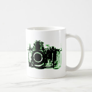X-RAY VISION CAMERA BLACK GREEN COFFEE MUG
