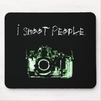 X-RAY VISION CAMERA BLACK GREEN - I Shoot People Mousepad