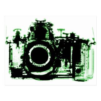 X-RAY VISION CAMERA BLACK GREEN POSTCARD