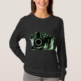 X-RAY VISION CAMERA BLACK GREEN T-Shirt
