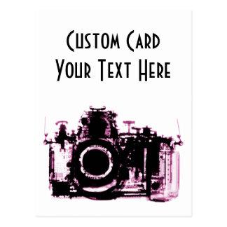 X-RAY VISION CAMERA BLACK PINK POSTCARD