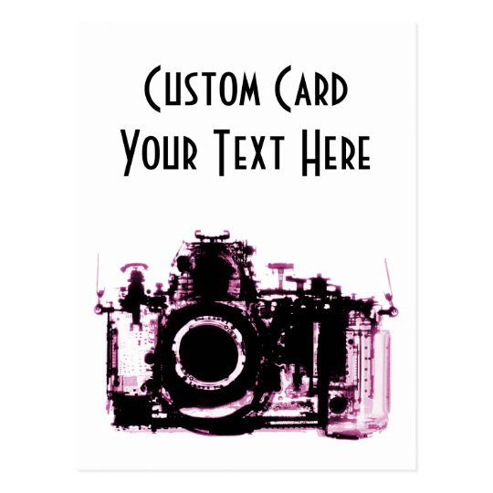 X-RAY VISION CAMERA BLACK PINK POSTCARD