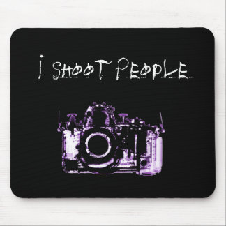 X-RAY VISION CAMERA BLACK PURPLE - I Shoot People Mousepads