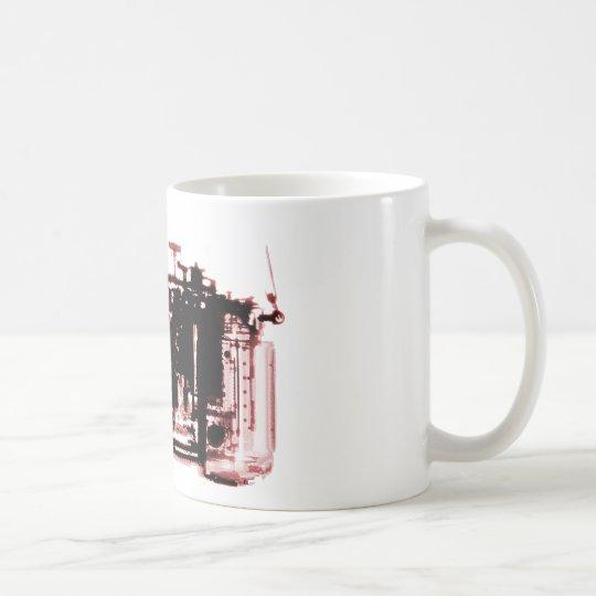 X-RAY VISION CAMERA BLACK RED COFFEE MUG