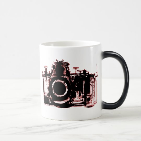 X-RAY VISION CAMERA BLACK RED MAGIC MUG