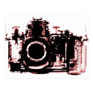 X-RAY VISION CAMERA BLACK RED POSTCARD