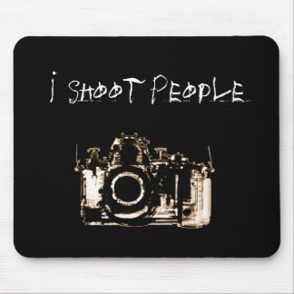 X-RAY VISION CAMERA BLACK SEPIA - I Shoot People Mousepads