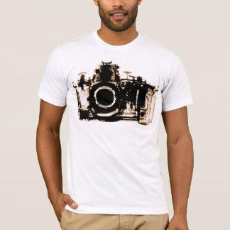 X-RAY VISION CAMERA BLACK SEPIA T-Shirt