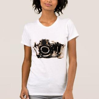 X-RAY VISION CAMERA BLACK SEPIA T SHIRT