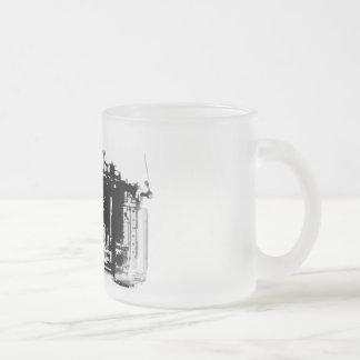 X-RAY VISION CAMERA BLACK & WHITE 10 OZ FROSTED GLASS COFFEE MUG