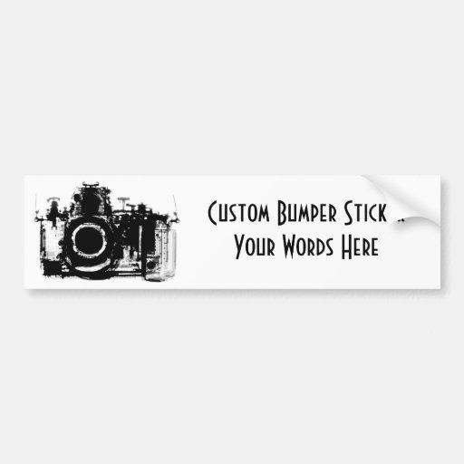 X-RAY VISION CAMERA BLACK & WHITE BUMPER STICKERS
