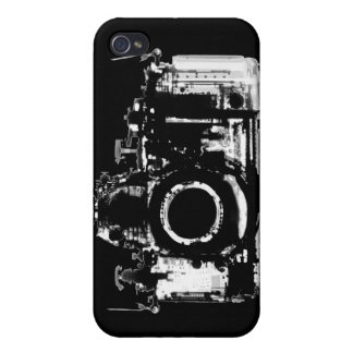 X-RAY VISION CAMERA - BLACK & WHITE COVERS FOR iPhone 4