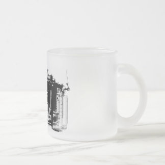 X-RAY VISION CAMERA BLACK & WHITE FROSTED GLASS COFFEE MUG