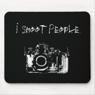 X-RAY VISION CAMERA BLACK WHITE - I Shoot People Mouse Pad