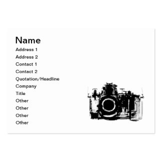 X-RAY VISION CAMERA - BLACK & WHITE LARGE BUSINESS CARD