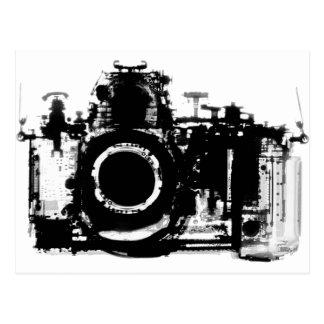 X-RAY VISION CAMERA BLACK & WHITE POSTCARD