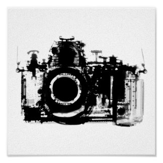 X-RAY VISION CAMERA - BLACK & WHITE POSTER