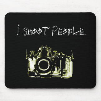 X-RAY VISION CAMERA BLACK YELLOW - I Shoot People Mousepads