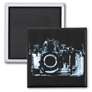 X-RAY VISION CAMERA - BLUE 2 INCH SQUARE MAGNET