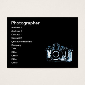 X-RAY VISION CAMERA - BLUE BUSINESS CARD