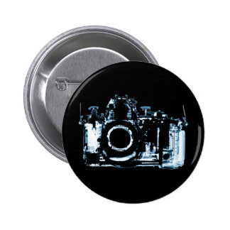 X-RAY VISION CAMERA - BLUE PINBACK BUTTON