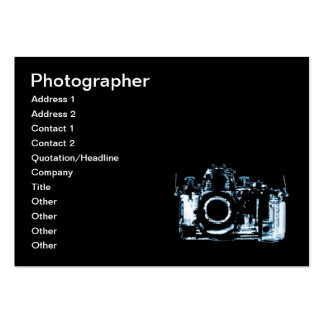 X-RAY VISION CAMERA - BLUE LARGE BUSINESS CARD