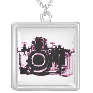 X-Ray Vision Camera For Photographers Square Pendant Necklace