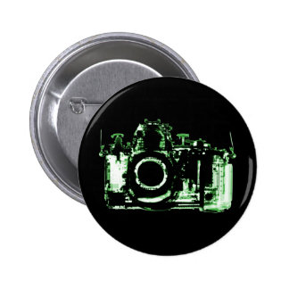 X-RAY VISION CAMERA - GREEN PINBACK BUTTONS