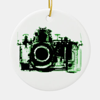 X-RAY VISION CAMERA - GREEN CERAMIC ORNAMENT