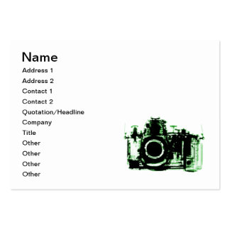 X-RAY VISION CAMERA - GREEN LARGE BUSINESS CARD