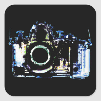 X-RAY VISION CAMERA - ORIGINAL BLUE SQUARE STICKER