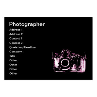 X-RAY VISION CAMERA - PINK LARGE BUSINESS CARD