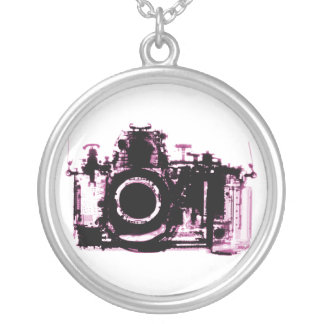 X-RAY VISION CAMERA - PINK ROUND PENDANT NECKLACE