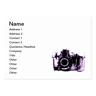X-RAY VISION CAMERA - PURPLE BUSINESS CARD