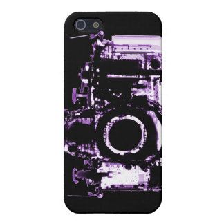 X-RAY VISION CAMERA - PURPLE CASE FOR iPhone SE/5/5s