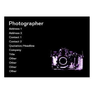 X-RAY VISION CAMERA - PURPLE LARGE BUSINESS CARD