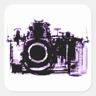 X-RAY VISION CAMERA - PURPLE SQUARE STICKER