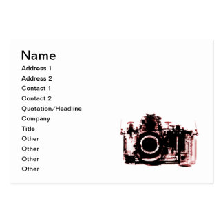 X-RAY VISION CAMERA - RED LARGE BUSINESS CARD