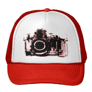 X-RAY VISION CAMERA - RED TRUCKER HAT
