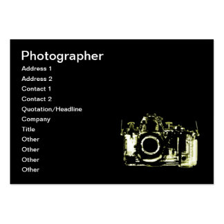 X-RAY VISION CAMERA - YELLOW LARGE BUSINESS CARD