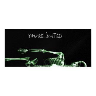 X-Ray Vision Green Single Skeleton Invites