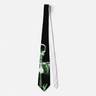 X-Ray Vision Green Single Skeleton Neck Tie