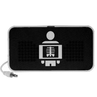 X-Ray Vision Pictogram Doodle Speaker