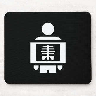 X-Ray Vision Pictogram Mousepad