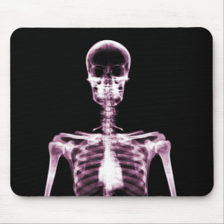 X-Ray Vision Pink Single Skeleton Mouse Pad