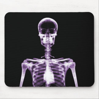 X-Ray Vision Purple Single Skeleton Mouse Pad