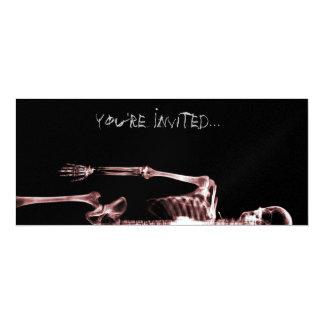 X-Ray Vision Red Single Skeleton Invites